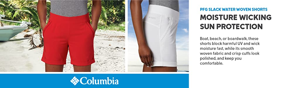 Columbia Women's PFG Slack Wagter Woven Shorts
