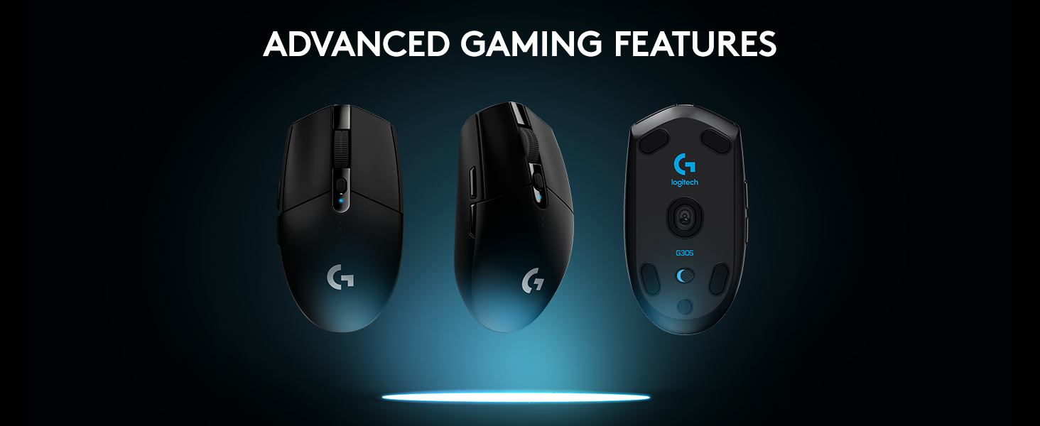Logitech G305 Lightspeed, Raton Inalámbrico para Gaming, RF Wireless, Negro