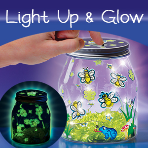 Build a Play and Pretend Shrink Fun Indoor Lightning Bug Jar Multi Creativity for Kids Make Your Own Firefly Light Craft Kit