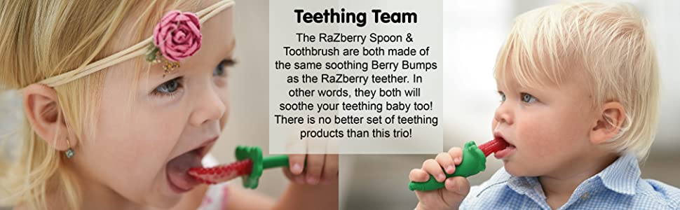Spoon, Toothbrush, Teething Set
