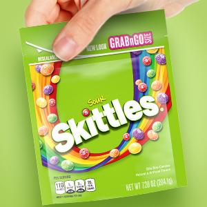 Skittles Sour Candy Bag - Grab amp; Go