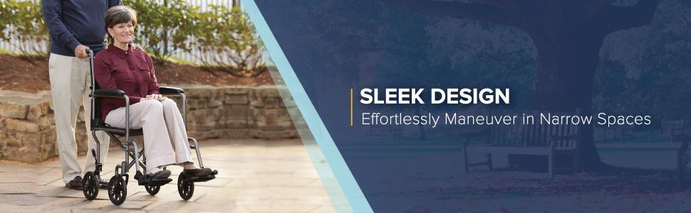 Sleek Design: Effortlessly Maneuver in Narrow Spaces