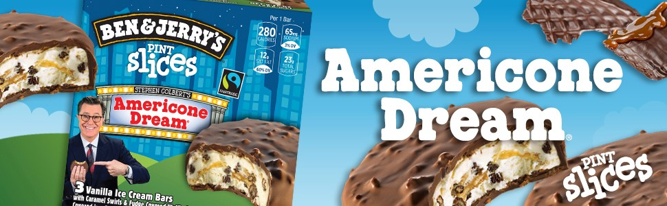 Ben And Jerry S Pint Slices Americone Dream Non Gmo Ice Cream Bars 9 Oz 3 Count Amazon Com Grocery Gourmet Food Pint slices have the outward appearance of klondike bars, though they're stuffed with one of four delicious ben and jerry's flavors. ben and jerry s pint slices americone
