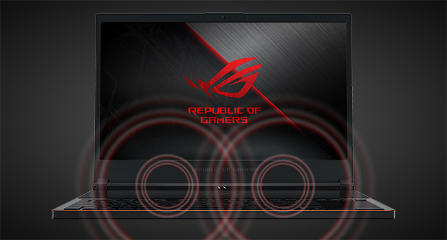 ROG Zephyrus S puts audio at the forefront with dual speakers aimed right at you.