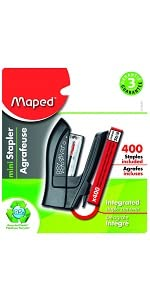 recycled stapler, mini stapler, maped helix, staples, stapler, staple