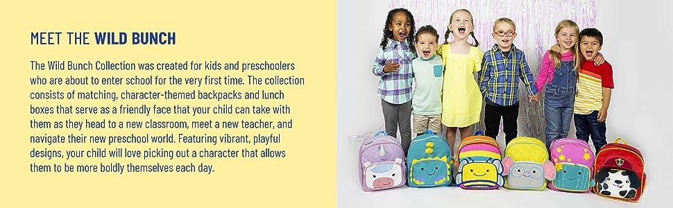 wildkin kids toddlers backpack preschool daycare animal dalmatian bee unicorn dinosaur cactus mouse