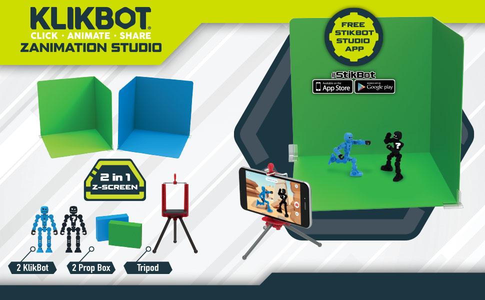 Zing Klikbot Zanimation Studio Stop Motion Action Figure Set