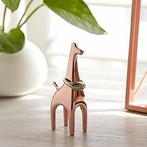 Umbra Giraffe Anigram Ring Holder, Copper