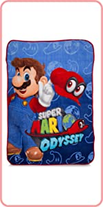 Nintendo Super Mario Odyssey Kids Bed and bath kids bedding gamers accessories