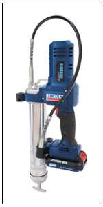 Lincoln, 1262, PowerLuber, battery operated grease gun, cordless grease gun, battery grease gun
