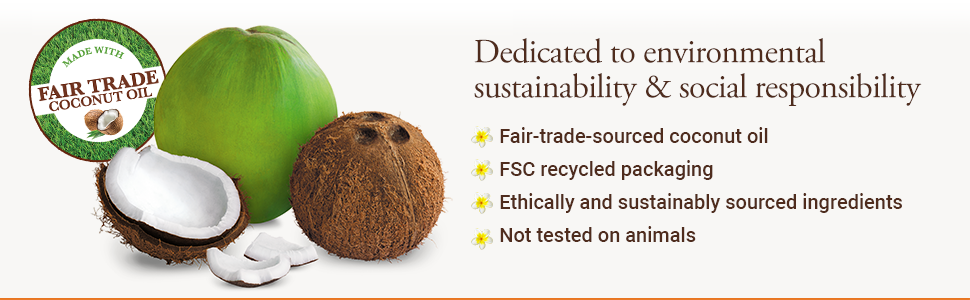 Environmental sustainability social responsibility fair trade recycled packaging not tested animals