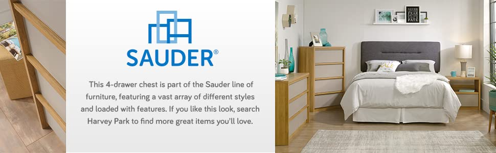 Amazon.com: Soft moderno 4 cajones), color roble claro ...