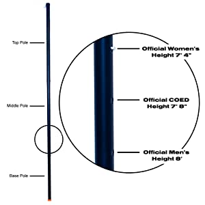 Official Volleyball Height, Volleyball Poles