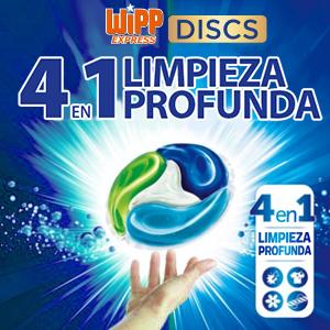 Wipp Express Detergente en Cápsulas, 50 Discos, Pack de 3, Total ...