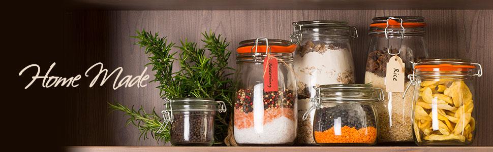 Kitchen Craft - Molde de Campana Rectangular para Hornear Pan, 39 cm, cerámica de gres