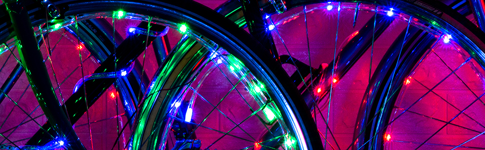 fun bike lights get crazy ride at night colorful bike lights