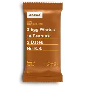 RXBAR, barra de proteínas, mantequilla de maní, sin gluten, barra de desayuno, paquete de 12