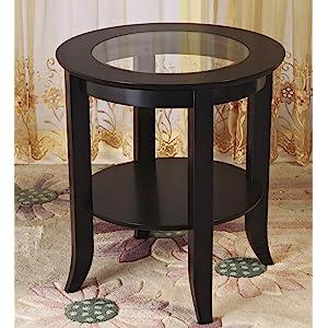 Amazon Com Frenchi Furniture Wood Genoa End Table Round