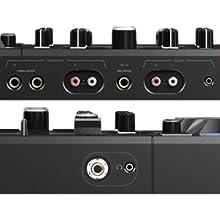 USB, RCA, jack, MASTER, interfaz de audio, controladora de dj