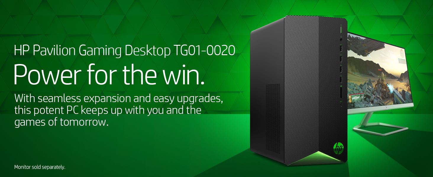 HP Pavilion Gaming Desktop TG01-0020 power powerful upgrade upgradable expansion game gaming