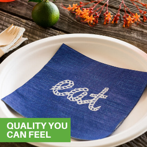 Don't worry about rips or tears our paper luncheon napkins are made from durable paper.