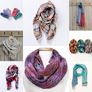 knitted scarf;mittens;gloves;winter scarf;long knitted