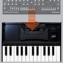 Teclado sensible a la velocidad de 25 notas para los módulos de Roland Boutique