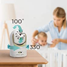 baby monitor, video monitor, baby camera, baby video monitor, baby lens, remote pan tilt zoom