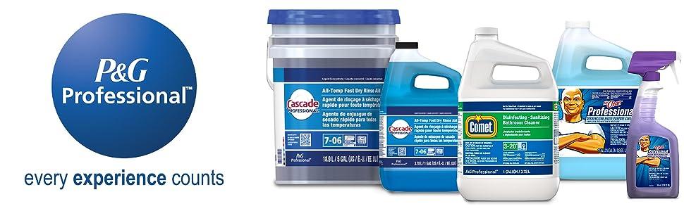 P&G Professional comet cascade mr clean dawn dishwasher detergent