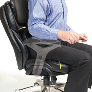 Pivoting lumbar and seat to promote spinal movement