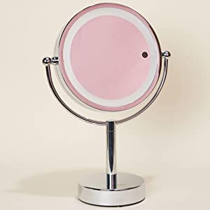 Amazon Com Vanity Planet Gleam Lighted Dual Sided