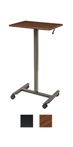 podium with wheels tray table mini tables rolling work cart airlift standing desk