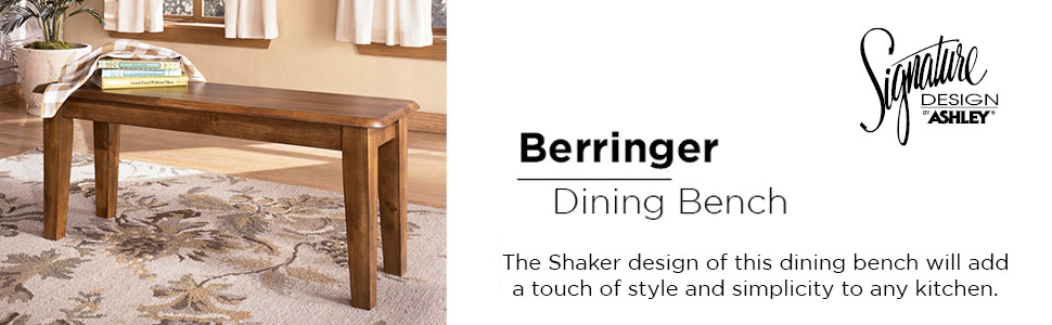 Signature Design By Ashley Furniture Berringer Dining Room Bench Casual Style Rustic Brown D199 00