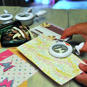 Fiskars Alicates perforadoras, Mariposa, Ø 5 cm, Para diestros y zurdos, Acero de calidad/Plástico, Blanco/Naranja, XL, 1016281
