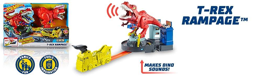 Assalto del T-Rex Mattel GFH88 Hot Wheels