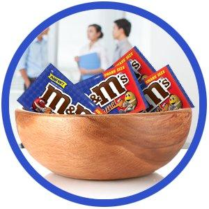 Take a break with sharing size bag of Mamp;M'S Candy for a real chocolate treat.