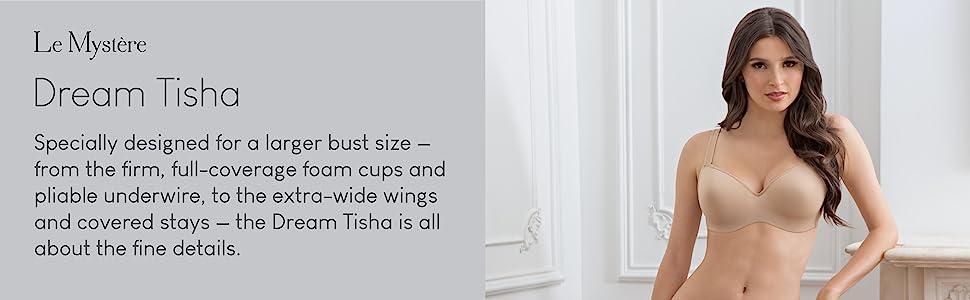le mystere womens dream tisha t-shirt bra