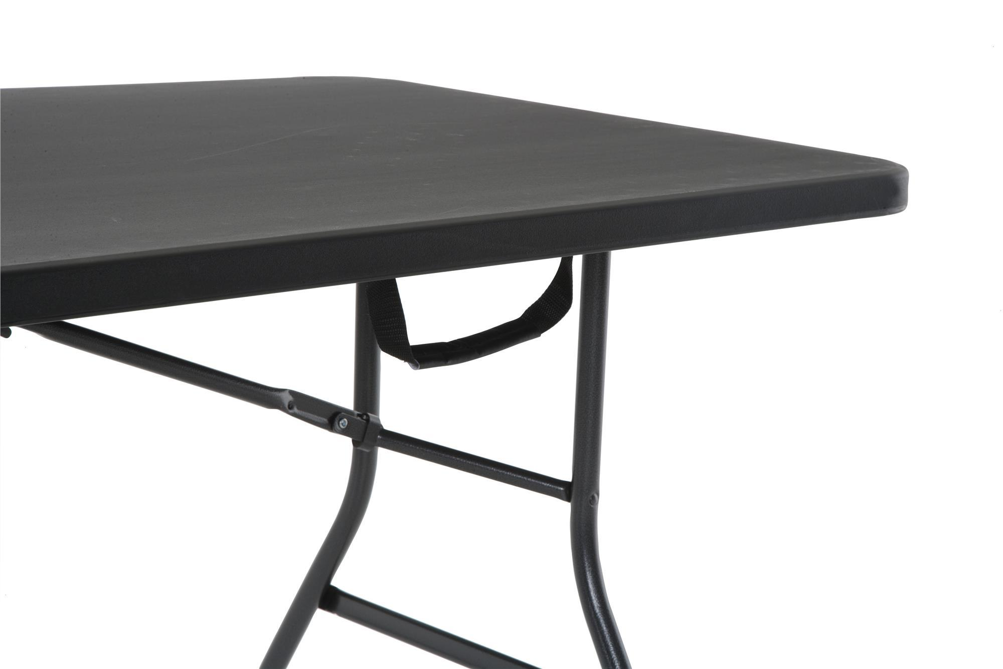 Cosco products centerfold folding table 6 feet black for Table 6 feet