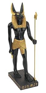 Statue d'Anubis, dieu du royaume égyptien