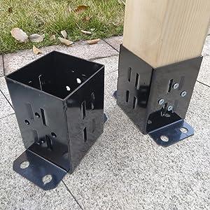 4x4 Wood Fence Post Base Brackets