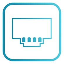 Ethernet port for wired connection