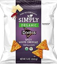 simply doritos spicy white cheddar organic tortilla chips healthy snack