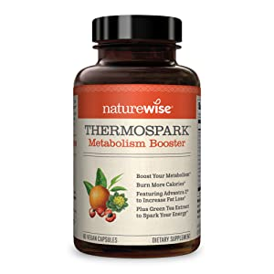 NatureWise Thermospark Metabolism Booster — Natural Thermogenic Fat Burner, Appetite Suppressant