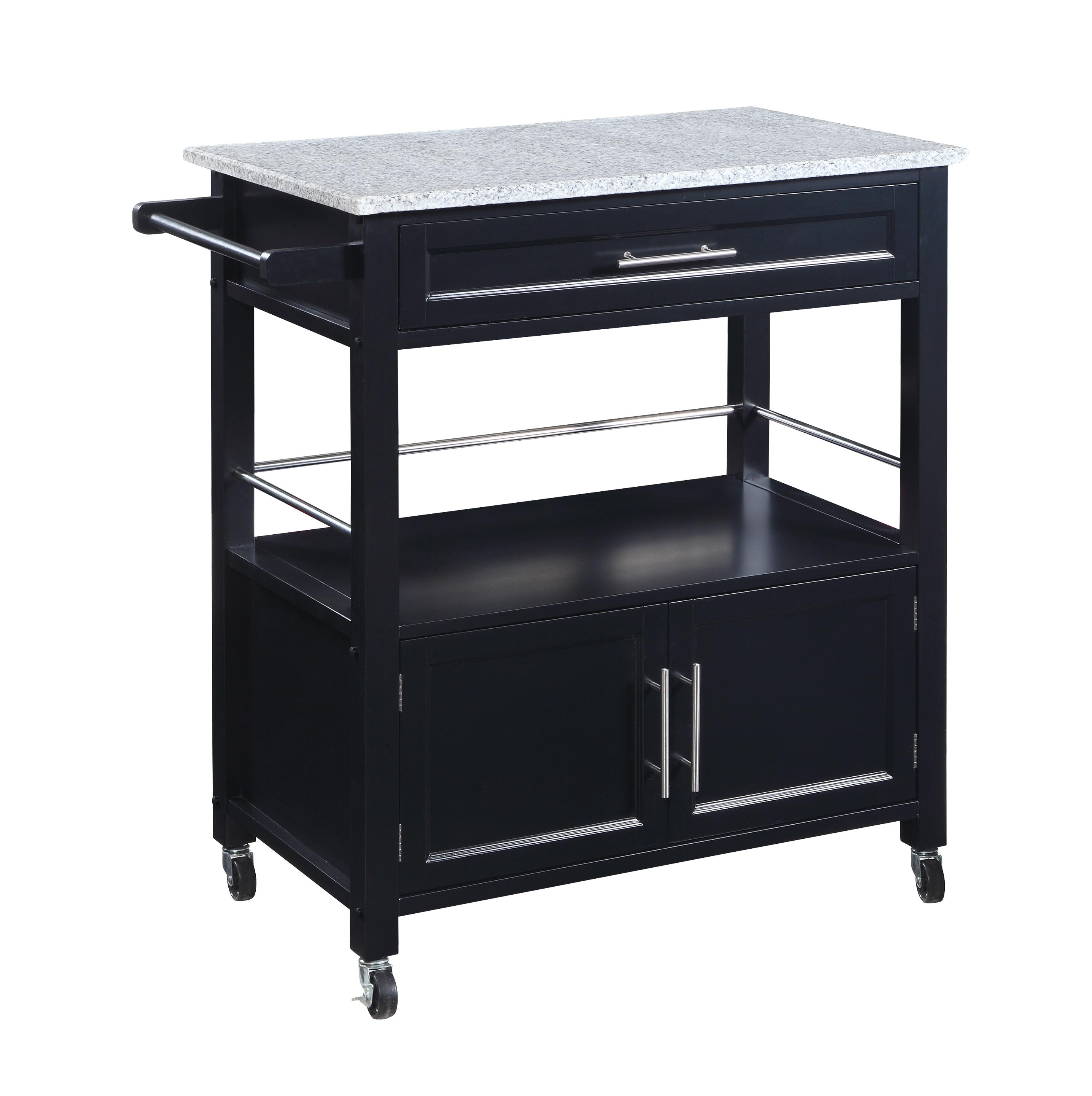 amazon com linon cameron kitchen cart with granite top kitchen rh amazon com granite top kitchen cart target francesca granite top kitchen cart