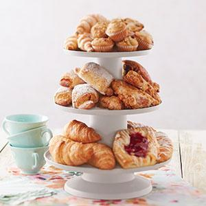 breakfast display, pastry display, muffin display, breakfast danish display, brunch display,