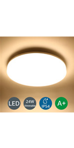 LE 24W Lámpara LED de Techo 2200LM Plafón LED Blanco Neutro ...