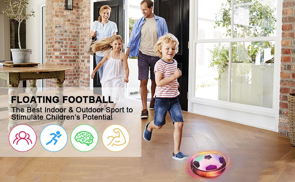 FAGORY Air Power Soccer Disc Hover Football con Parachoques de ...