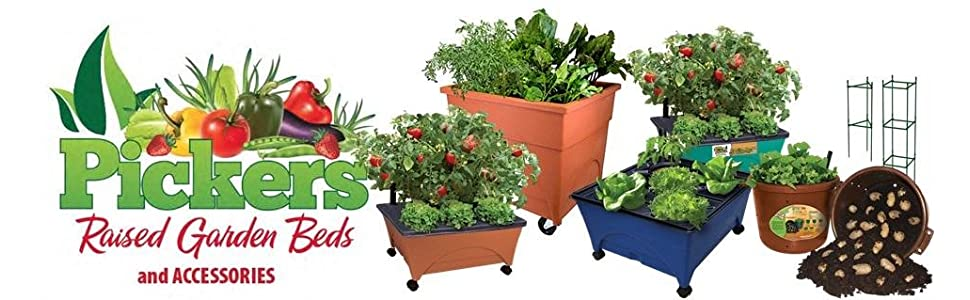 Garden Bed Grow Box Kit Watering Planter Portable Vegetable CITY PICKERS Patio