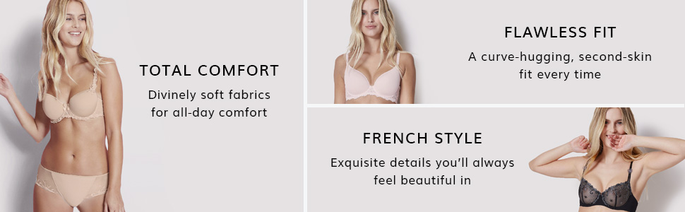 Simone Perele, French lingerie, Comfort, Fit, French style, Simone Perele bras, panties, lingerie