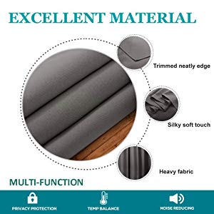 blackout curtain heavy fabric thermal insulated curtain